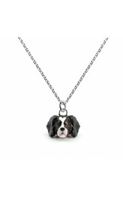 Dog Fever Enameled Head Necklace CAVALIER KING CHARLES SPANIEL product image