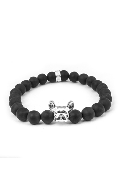 Dog Fever Onyx Bead Bracelet French Bulldog product image