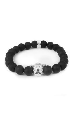 Dog Fever Onyx Bead Bracelet Pug product image