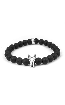 Dog Fever Onyx Bead Bracelet Bull Terrier product image