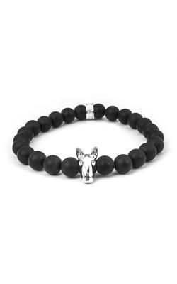 Dog Fever Onyx Bead Bracelet Bull Terrier product image