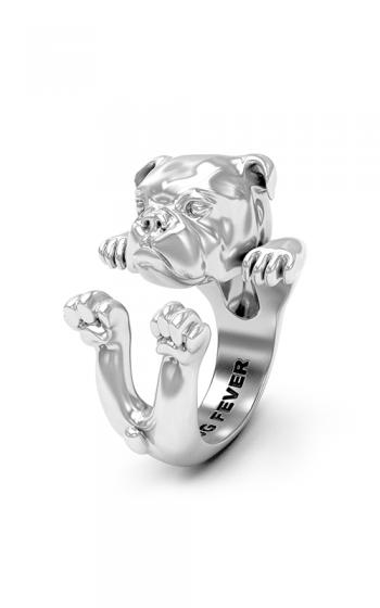 Dog Fever Hug Fashion ring ENGLISH BULLDOG product image