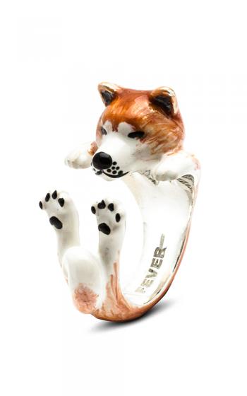Dog Fever Enameled Hug Fashion ring AKITA product image