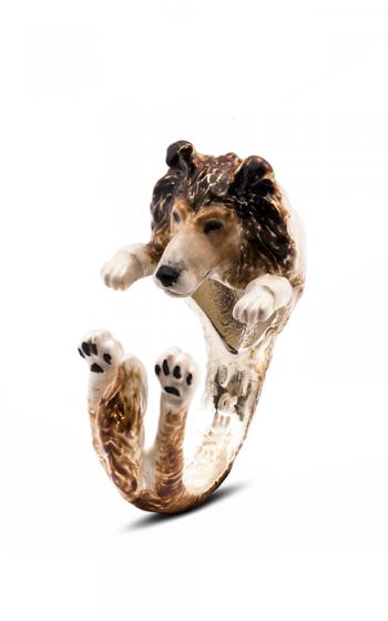 Dog Fever Enameled Hug Fashion ring COLLIE product image
