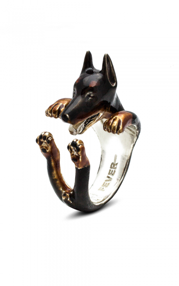 Dog Fever Enameled Hug Fashion ring DOBERMANN product image