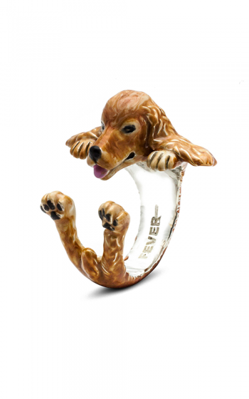 Dog Fever Enameled Hug Fashion ring COCKER SPANIEL product image