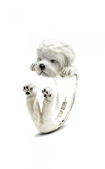 Dog Fever Enameled Hug Fashion ring MALTESE product image