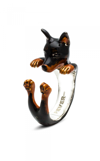 Dog Fever Enameled Hug Fashion ring PINSCHER product image