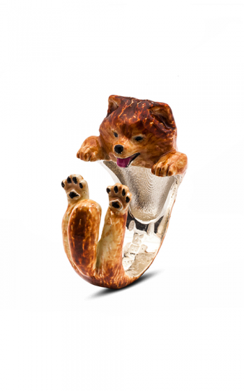 Dog Fever Enameled Hug Fashion ring POMERANIAN product image