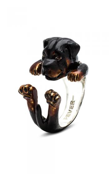 Dog Fever Enameled Hug Fashion ring ROTTWEILER product image