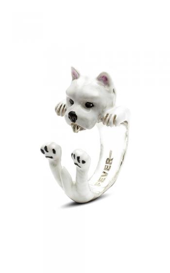Dog Fever Enameled Hug Fashion ring WEST HIGHLAND WHITE TERRIER product image