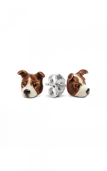Dog Fever Enameled Head Earrings AMERICAN STAFFORDSHIRE product image