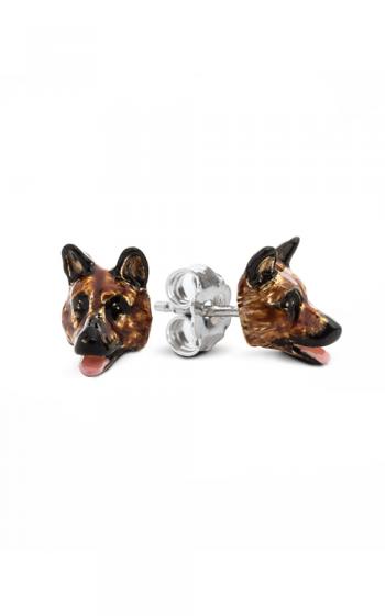 Dog Fever Enameled Head Earrings GERMAN SHEPHERD product image