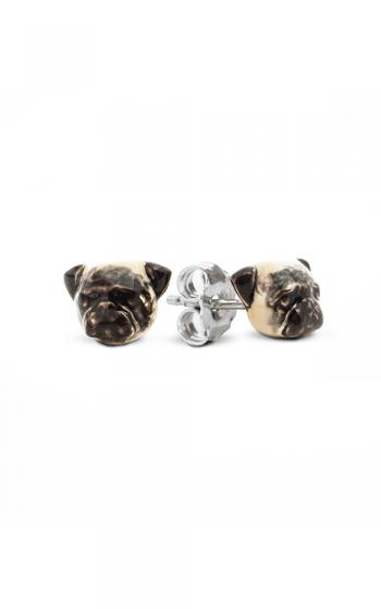 Dog Fever Enameled Head Earrings PUG product image