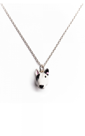Dog Fever Enameled Head Necklace BULL TERRIER product image