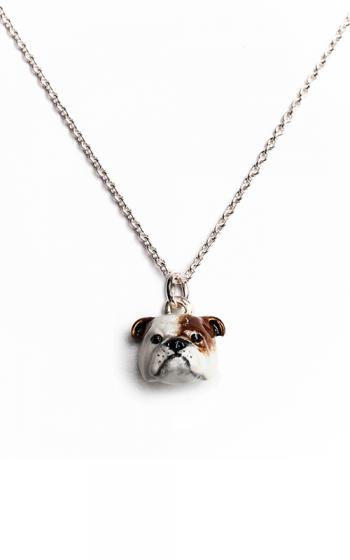 Dog Fever Enameled Head Necklace ENGLISH BULLDOG product image