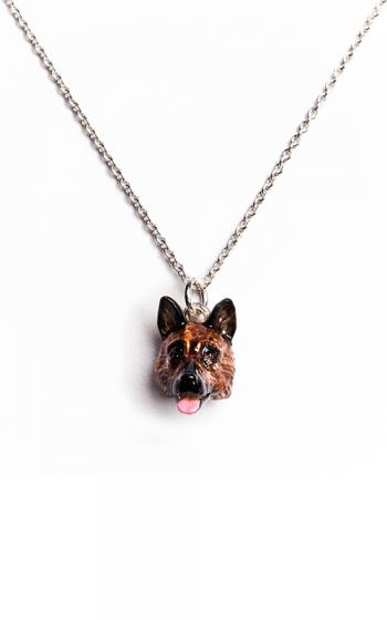 Dog Fever Enameled Head Necklace GERMAN SHEPHERD product image