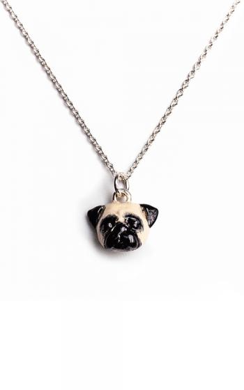 Dog Fever Enameled Head Necklace PUG product image