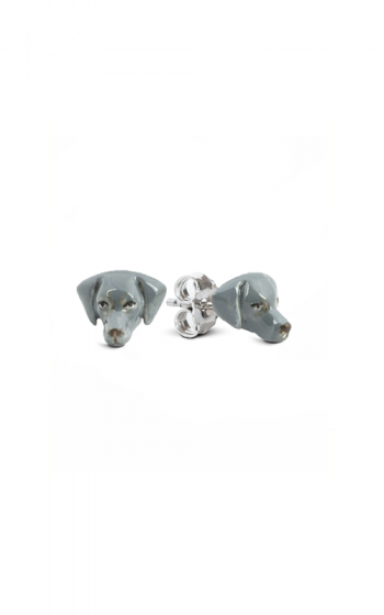 Dog Fever Enameled Head Earrings WEIMARANER product image