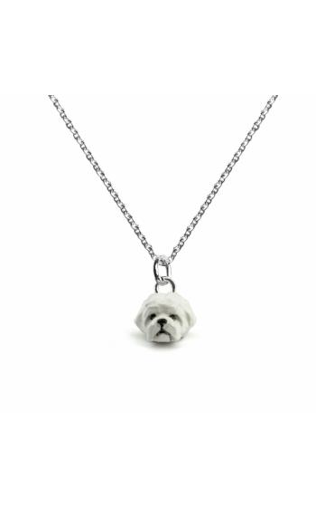 Dog Fever Enameled Head Necklace MALTESE product image
