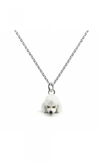 Dog Fever Enameled Head Necklace POODLE product image