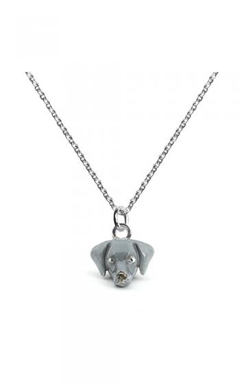Dog Fever Enameled Head Necklace WEIMARANER product image