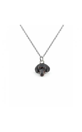 Dog Fever Enameled Head Necklace DACHSHUND product image
