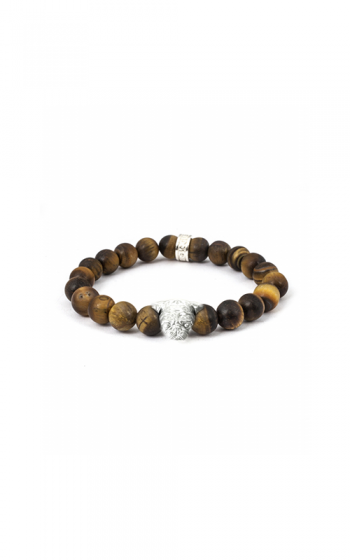 Dog Fever Tiger Eye Beads Bracelet PUG product image