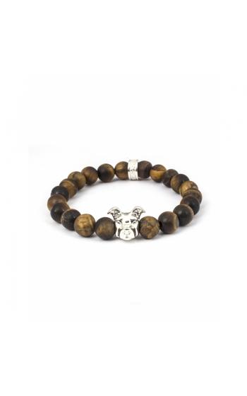 Dog Fever Tiger Eye Beads Bracelet AMERICAN STAFFORDSHIRE product image