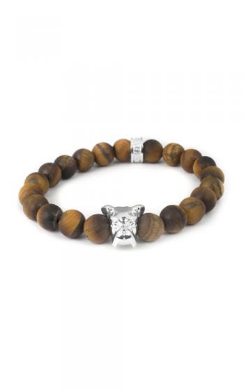 Dog Fever Tiger Eye Beads Bracelet Boxer Head product image