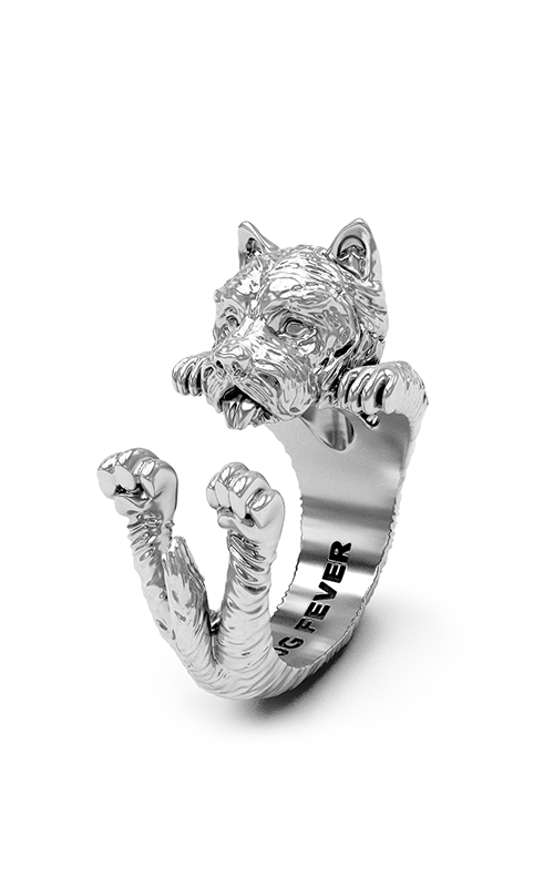 Dog Fever Hug Fashion ring WEST HIGHLAND WHITE TERRIER product image