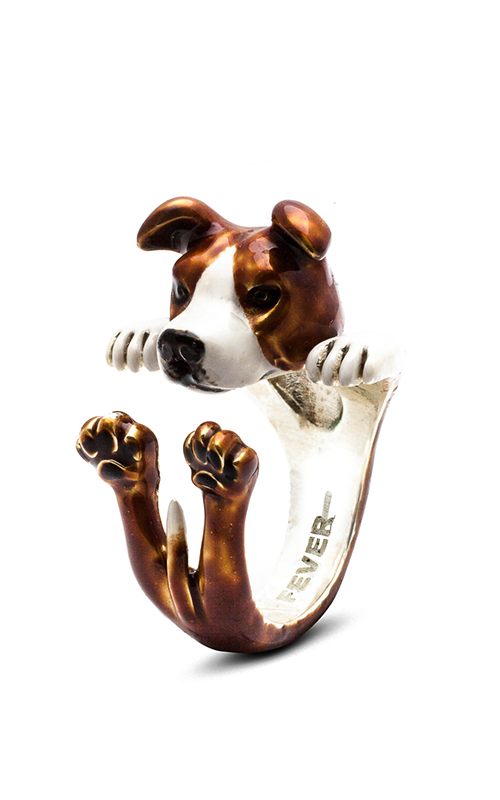 Dog Fever Enameled Hug Fashion ring AMERICAN STAFFORDSHIRE product image
