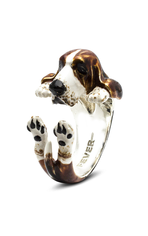 Dog Fever Enameled Hug Fashion ring BASSET HOUND product image