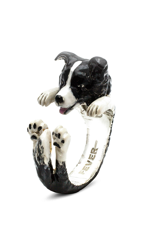 Dog Fever Enameled Hug Fashion ring BORDER COLLIE product image