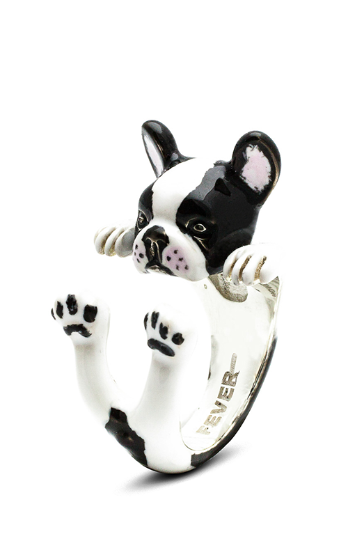 Dog Fever Enameled Hug Fashion ring FRENCH BULLDOG product image
