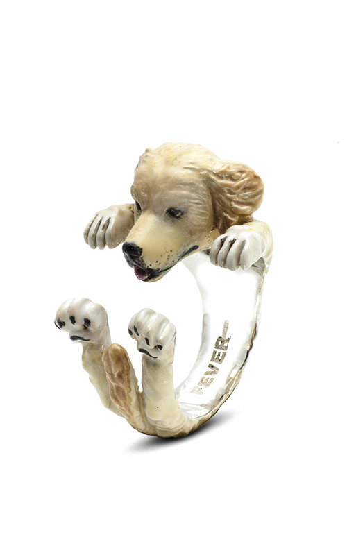Dog Fever Enameled Hug Fashion ring GOLDEN RETRIEVER product image