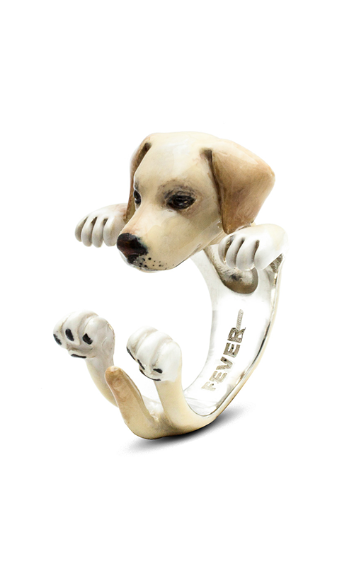 Dog Fever Enameled Hug Fashion ring LABRADOR RETRIEVER product image