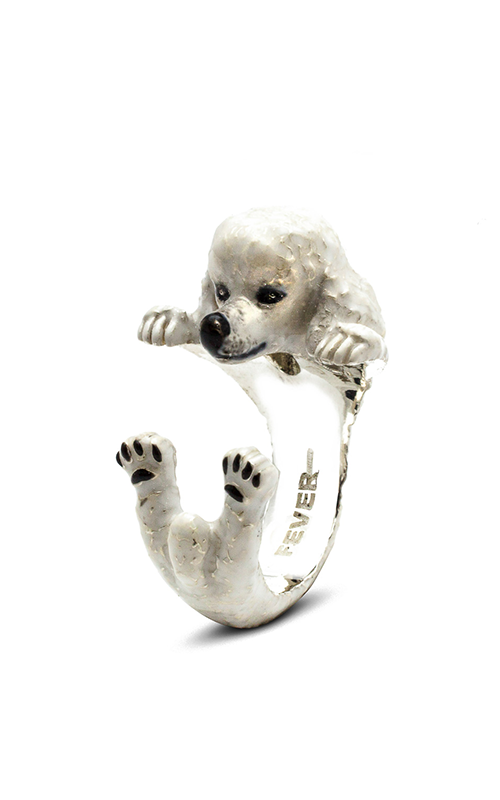 Dog Fever Enameled Hug Fashion ring POODLE product image