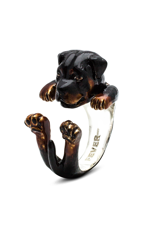 Dog Fever Enameled Hug Fashion ring ROTTWEILER product image