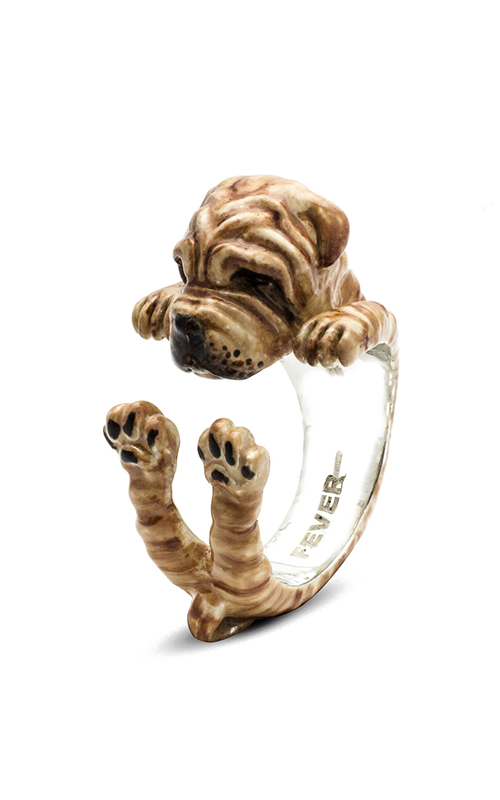 Dog Fever Enameled Hug Fashion ring SHAR PEI product image