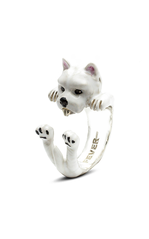 Dog Fever Enameled Hug Fashion ring WEST HIGHLAND WHITE TERRIER product image