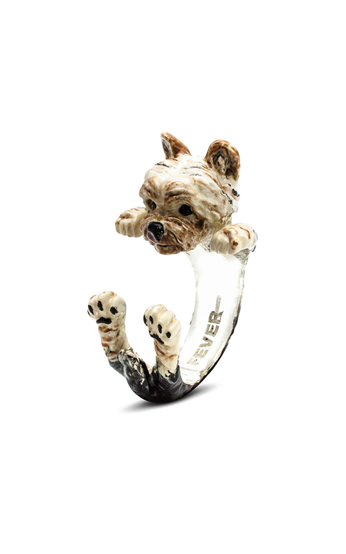 Dog Fever Enameled Hug Fashion ring YORKSHIRE product image