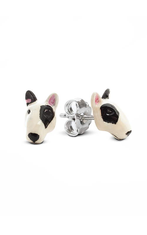 Dog Fever Enameled Head Earring BULL TERRIER product image
