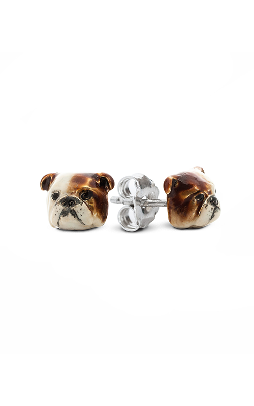 Dog Fever Enameled Head Earring ENGLISH BULLDOG product image