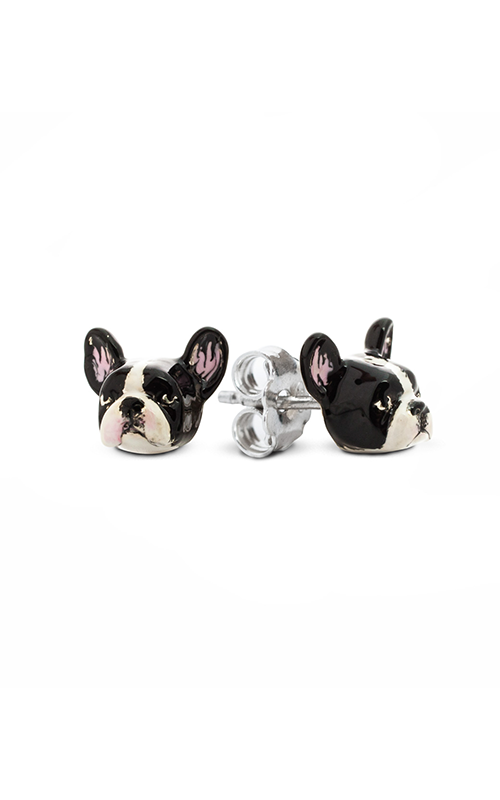 Dog Fever Enameled Head Earring FRENCH BULLDOG product image