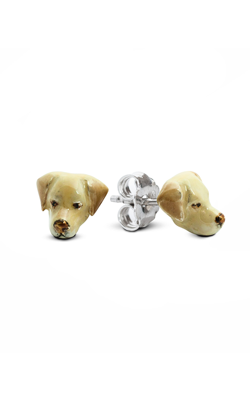 Dog Fever Enameled Head Earring LABRADOR RETRIEVER product image