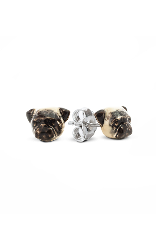 Dog Fever Enameled Head Earring PUG product image