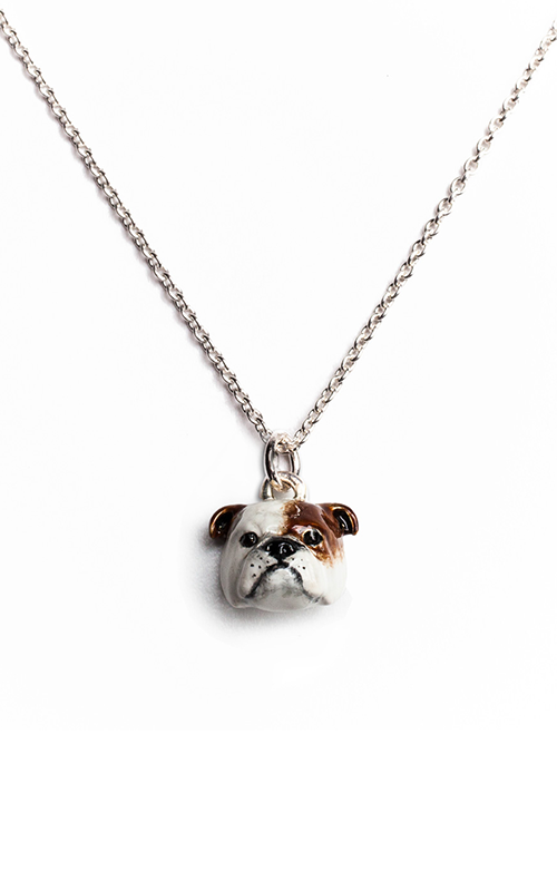 Dog Fever Enameled Head Necklace ENGLISH BULLDOG product image