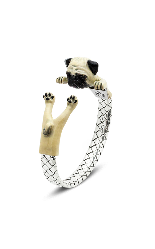 Dog Fever Enameled Hug Bracelet PUG product image