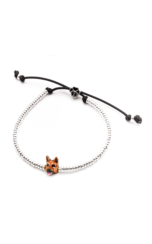 Dog Fever Enameled Head Bracelet GERMAN SHEPHERD product image